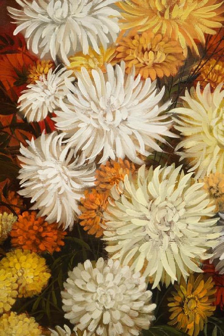 AMERICAN SCHOOL (1970's Vintage) Floral Still Life - 2