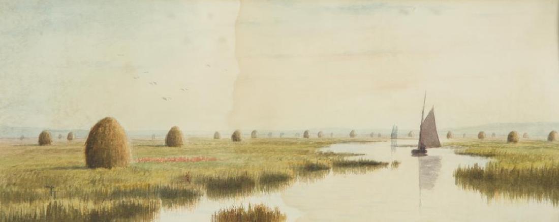 "FRANK THURLO (1837-1913) ""Catboat on the Plum Island - 3"