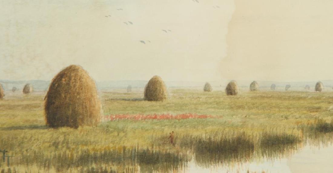 "FRANK THURLO (1837-1913) ""Catboat on the Plum Island - 4"