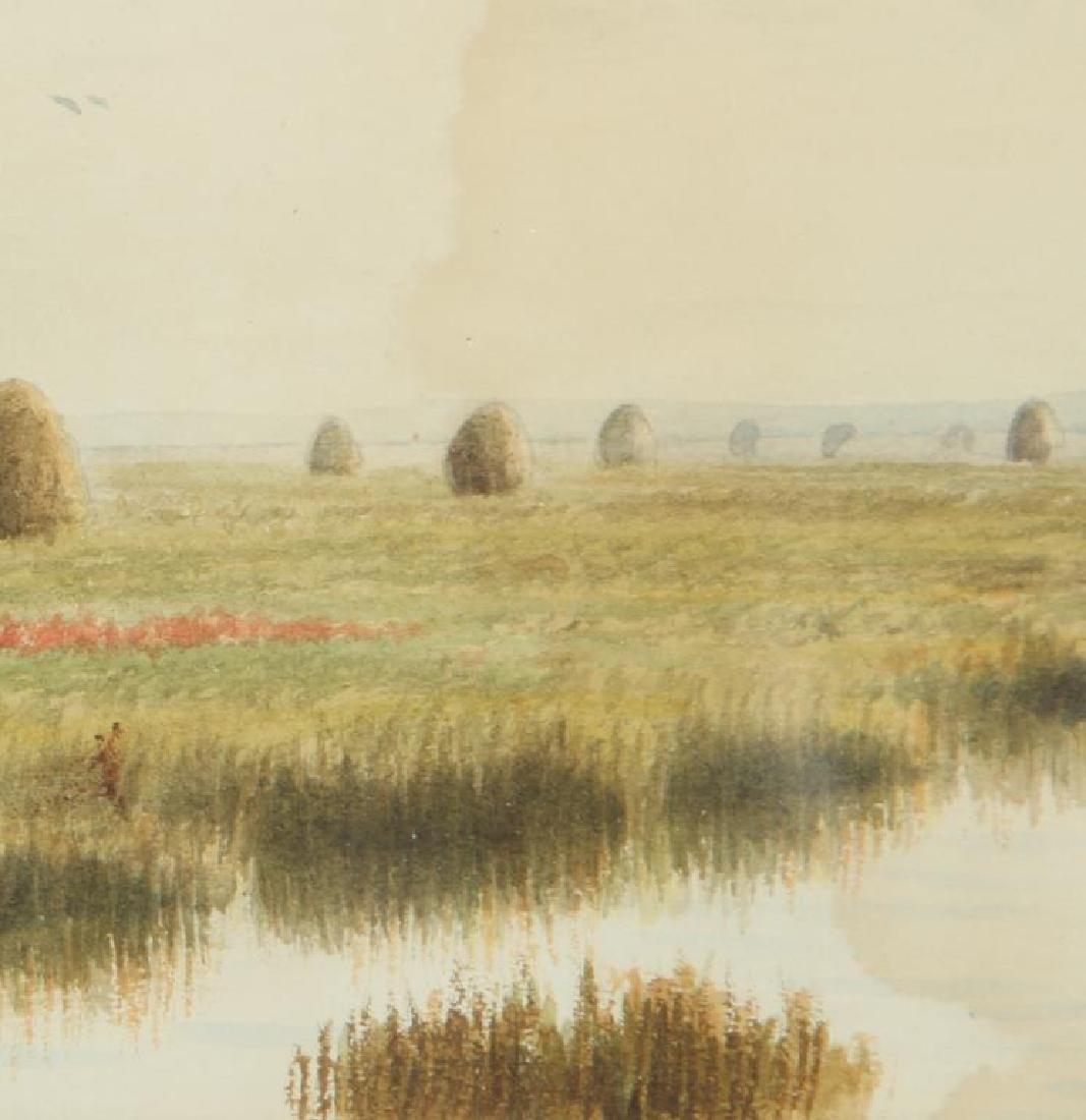 "FRANK THURLO (1837-1913) ""Catboat on the Plum Island - 5"