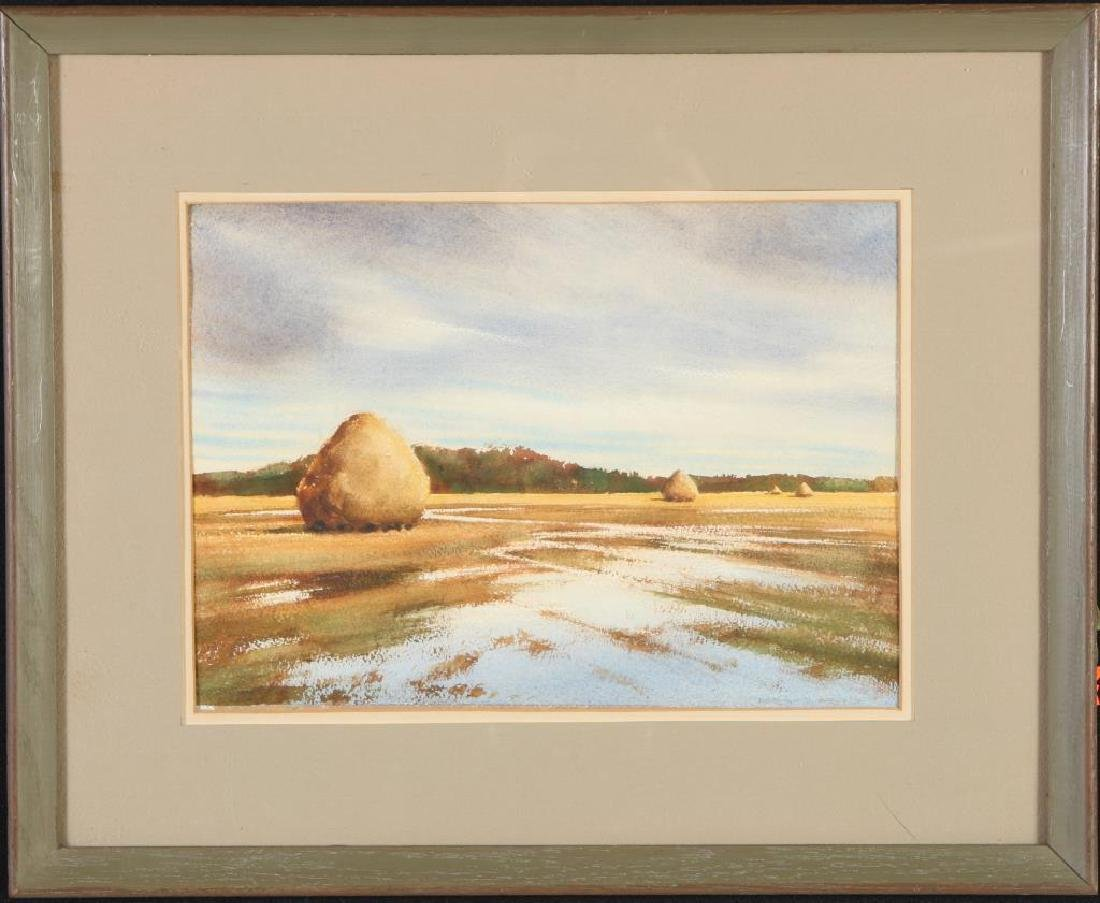 "DOROTHY D. BROWN (20th c) ""Newbury Marshes"" watercolor"