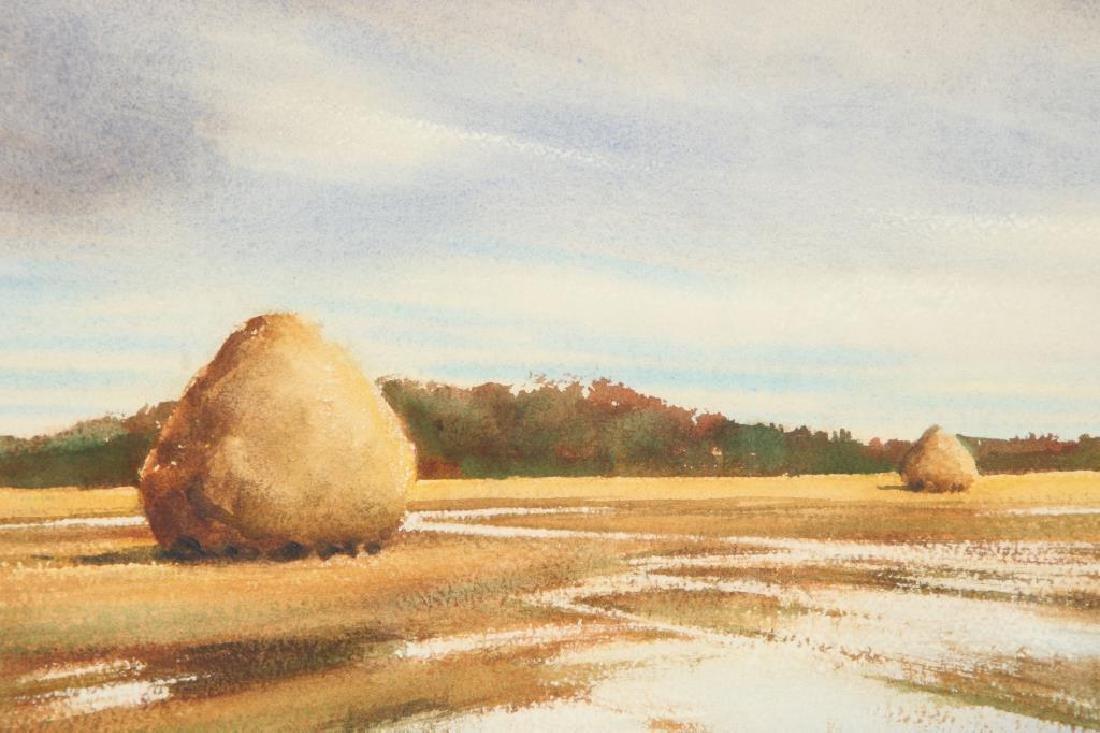 "DOROTHY D. BROWN (20th c) ""Newbury Marshes"" watercolor - 2"