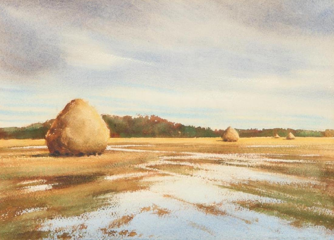 "DOROTHY D. BROWN (20th c) ""Newbury Marshes"" watercolor - 3"