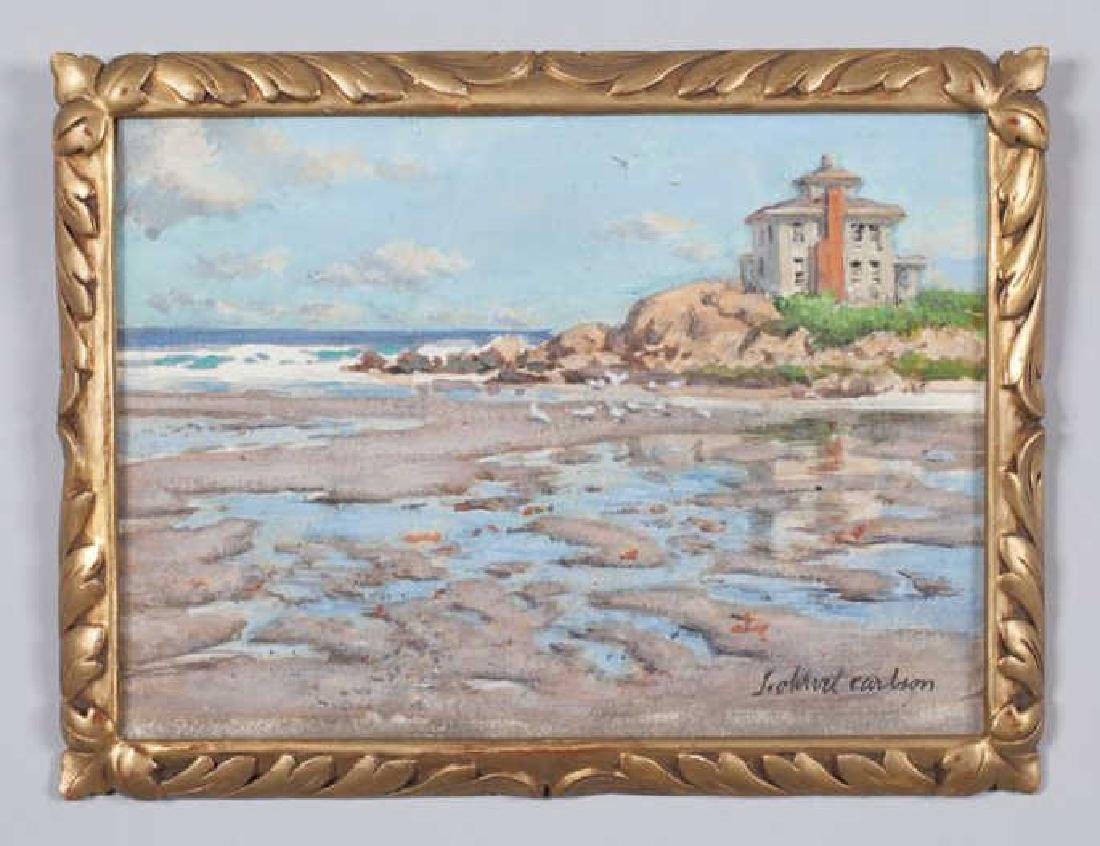 "SVEN OHRVEL CARLSON (1911-2006) ""Low Tide"" watercolor 8"