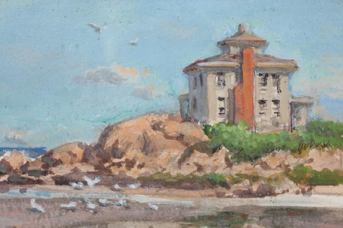 "SVEN OHRVEL CARLSON (1911-2006) ""Low Tide"" watercolor 8 - 4"