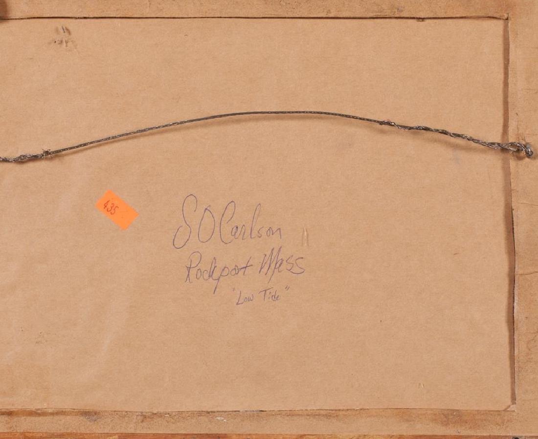 "SVEN OHRVEL CARLSON (1911-2006) ""Low Tide"" watercolor 8 - 5"