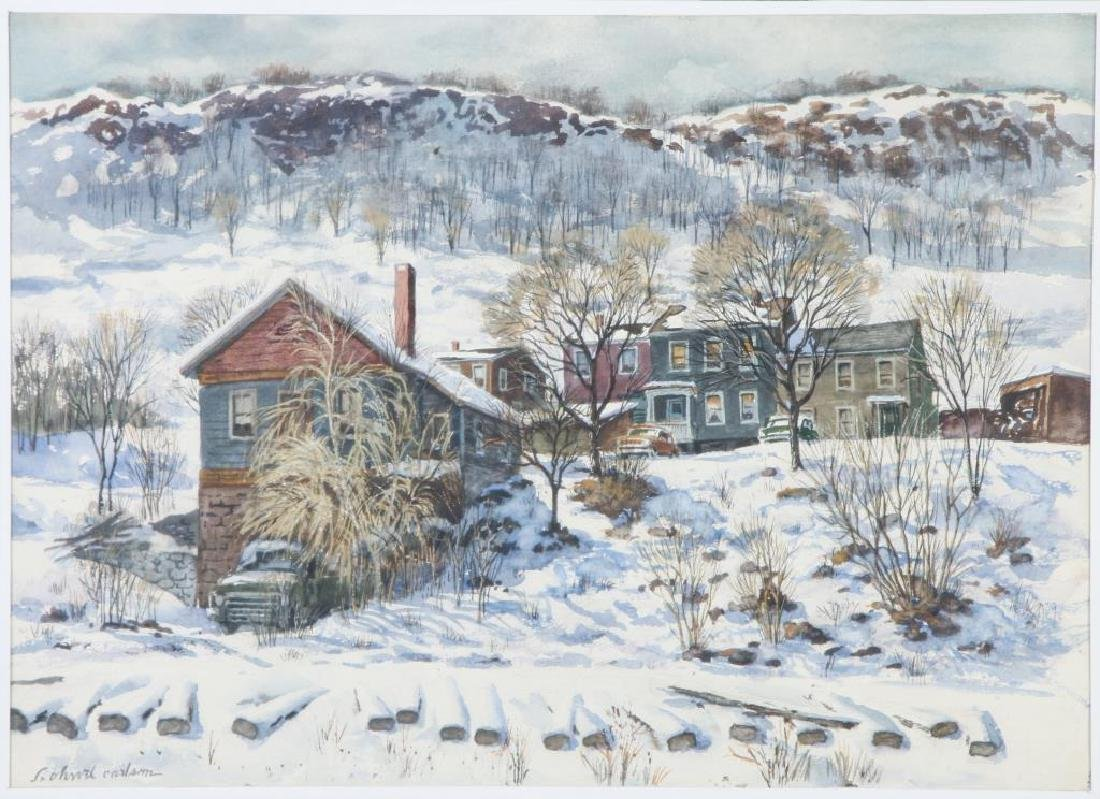 "SVEN OHRVEL CARLSON (1911-2006) ""American Landscape"""