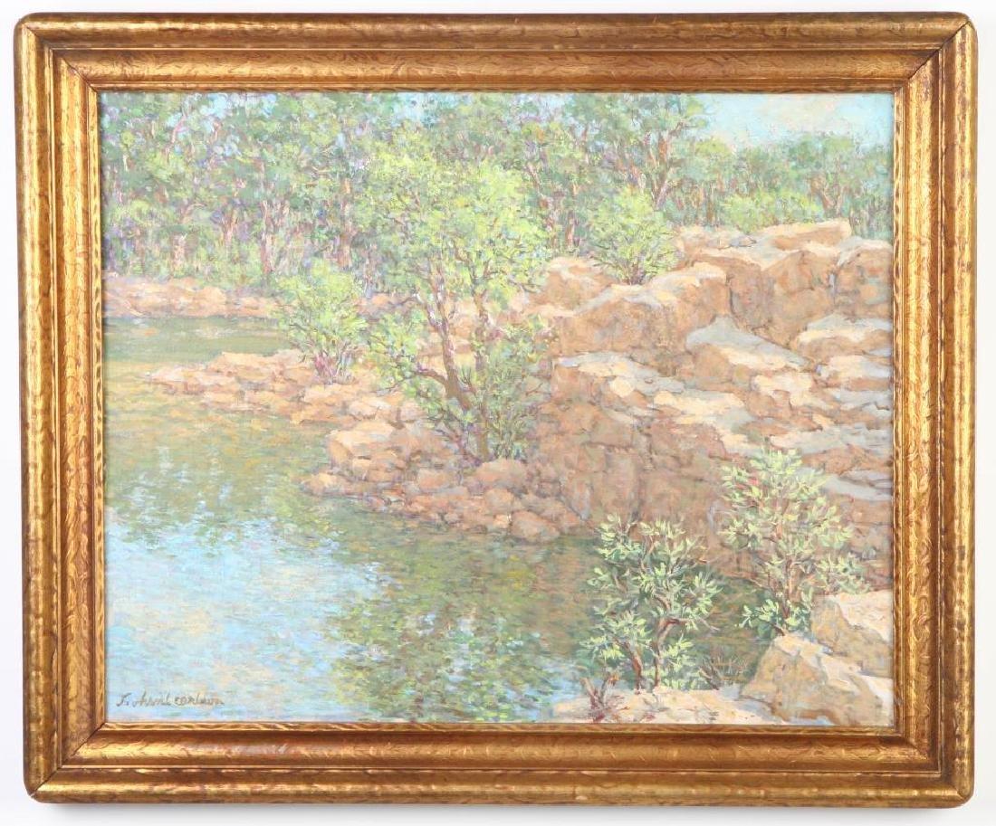 "SVEN OHRVEL CARLSON (1911-2006) ""Rockport Quarry"" oil"