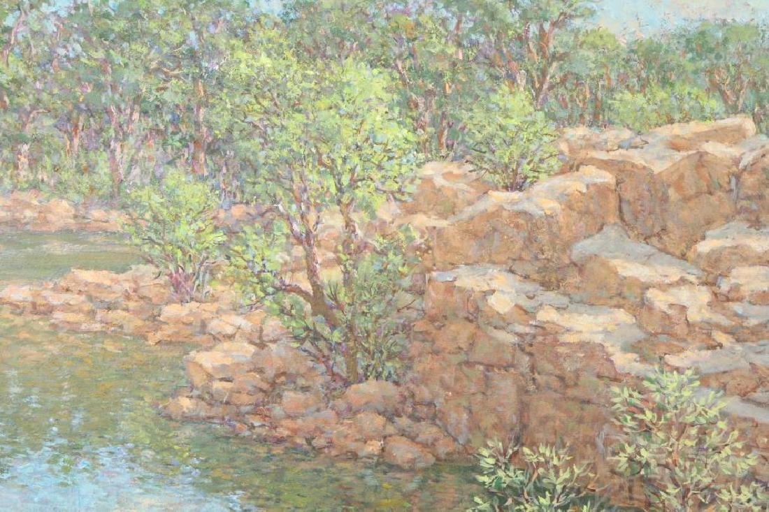 "SVEN OHRVEL CARLSON (1911-2006) ""Rockport Quarry"" oil - 2"