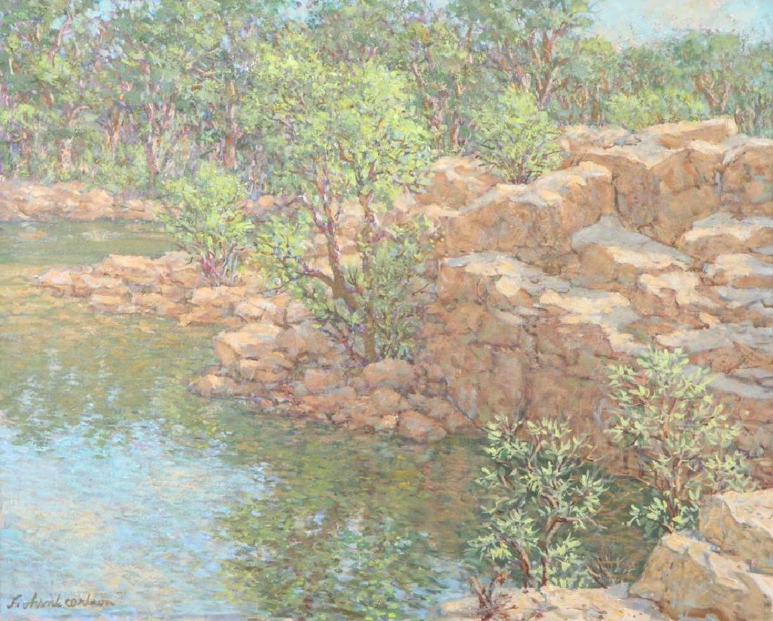 "SVEN OHRVEL CARLSON (1911-2006) ""Rockport Quarry"" oil - 3"