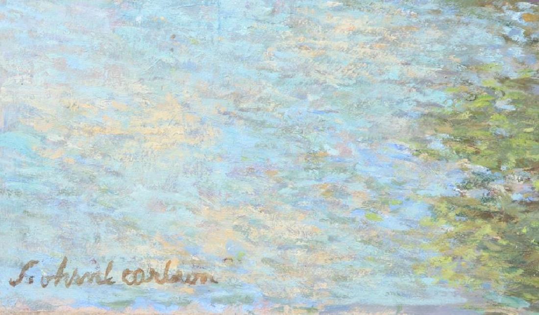"SVEN OHRVEL CARLSON (1911-2006) ""Rockport Quarry"" oil - 4"