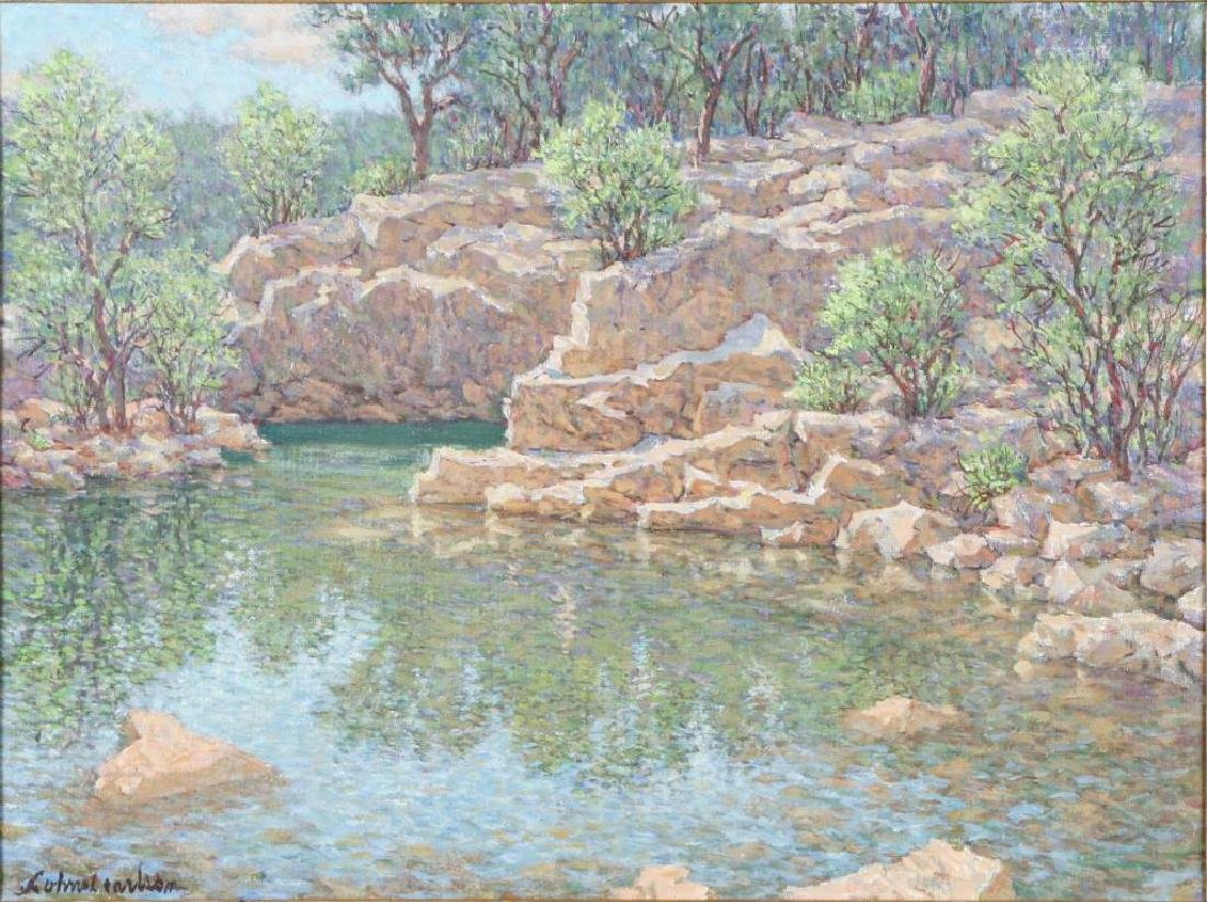 "SVEN OHRVEL CARLSON (1911-2006) ""Rockport Quarry"" oil - 2"