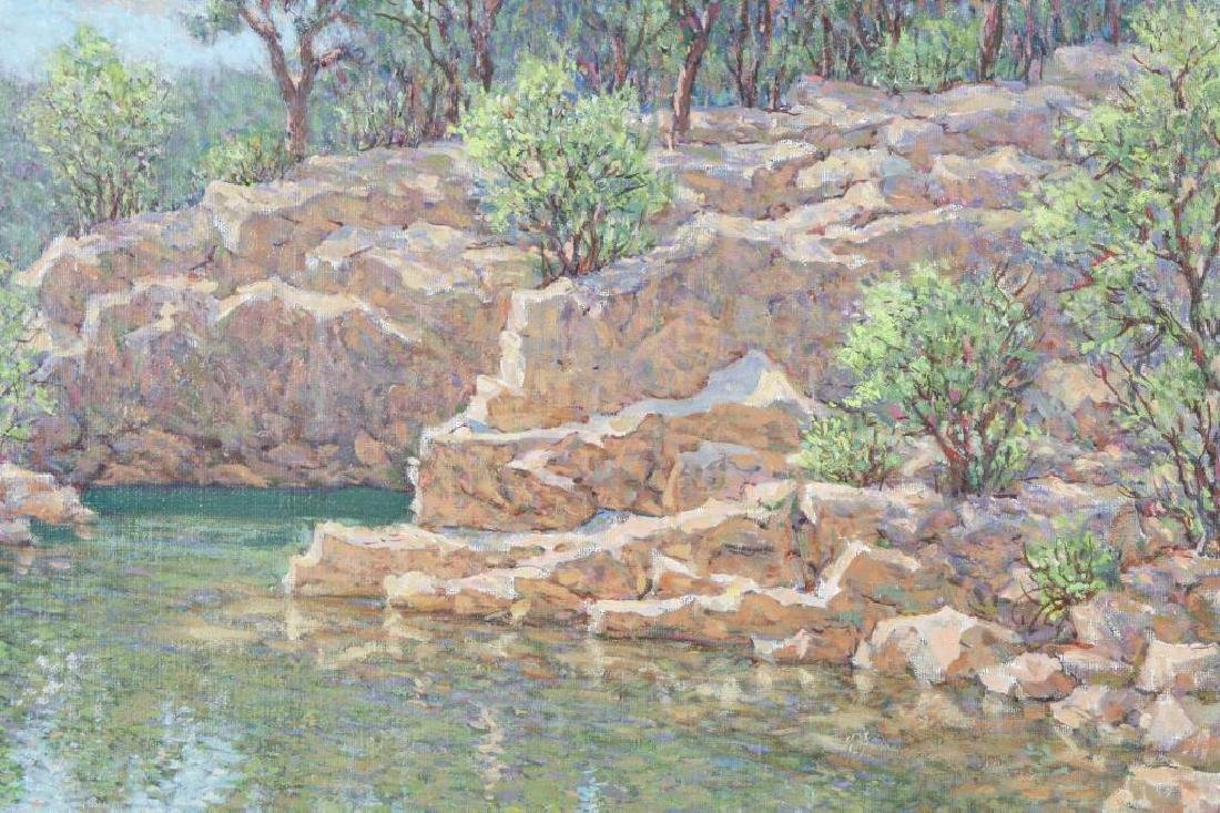 "SVEN OHRVEL CARLSON (1911-2006) ""Rockport Quarry"" oil - 4"