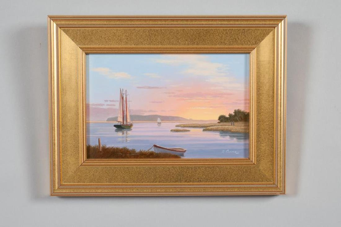 """RAY CRANE (20th / 21st c) """"Sunset on the Essex River"""" - 4"""