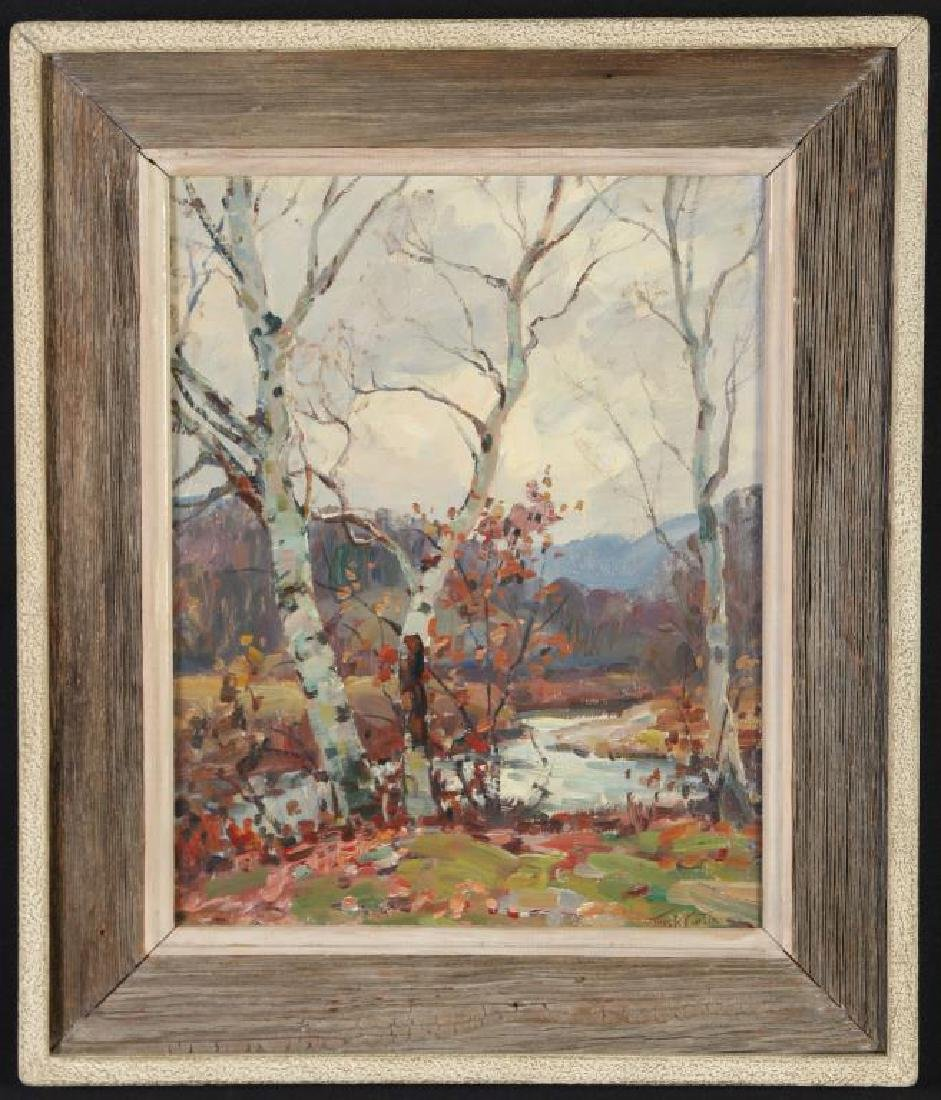 "THOMAS R, CURTIN (1899-1977) ""Birches in Autumn"" oil on"
