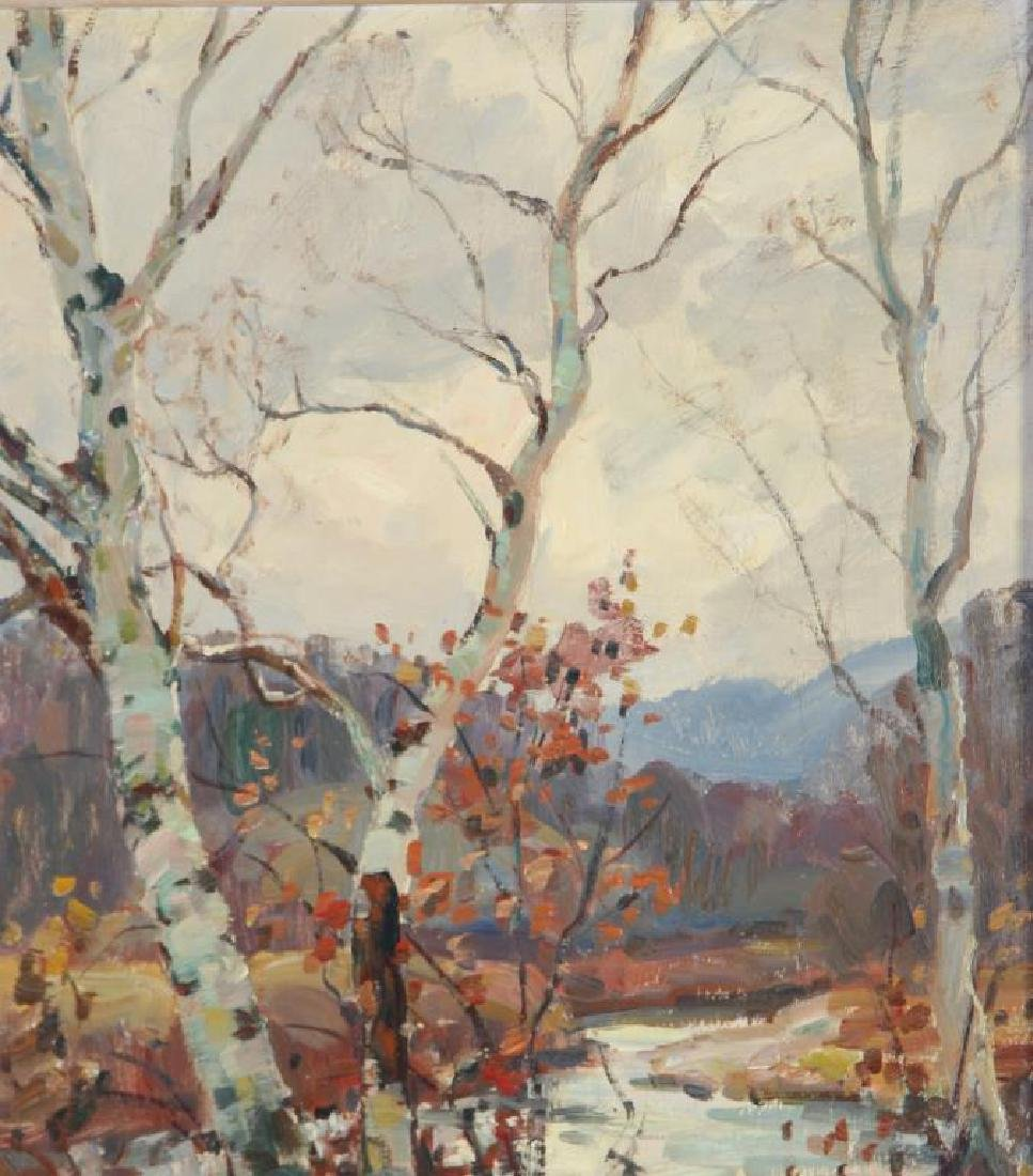 "THOMAS R, CURTIN (1899-1977) ""Birches in Autumn"" oil on - 5"