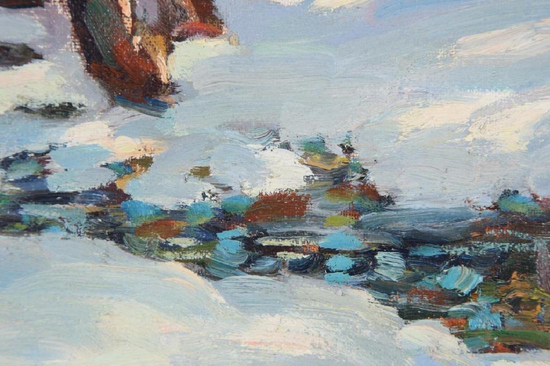 "THOMAS R, CURTIN (1899-1977) ""Winter Stream"" oil on - 2"