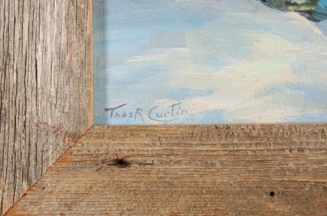 "THOMAS R, CURTIN (1899-1977) ""Winter Stream"" oil on - 4"