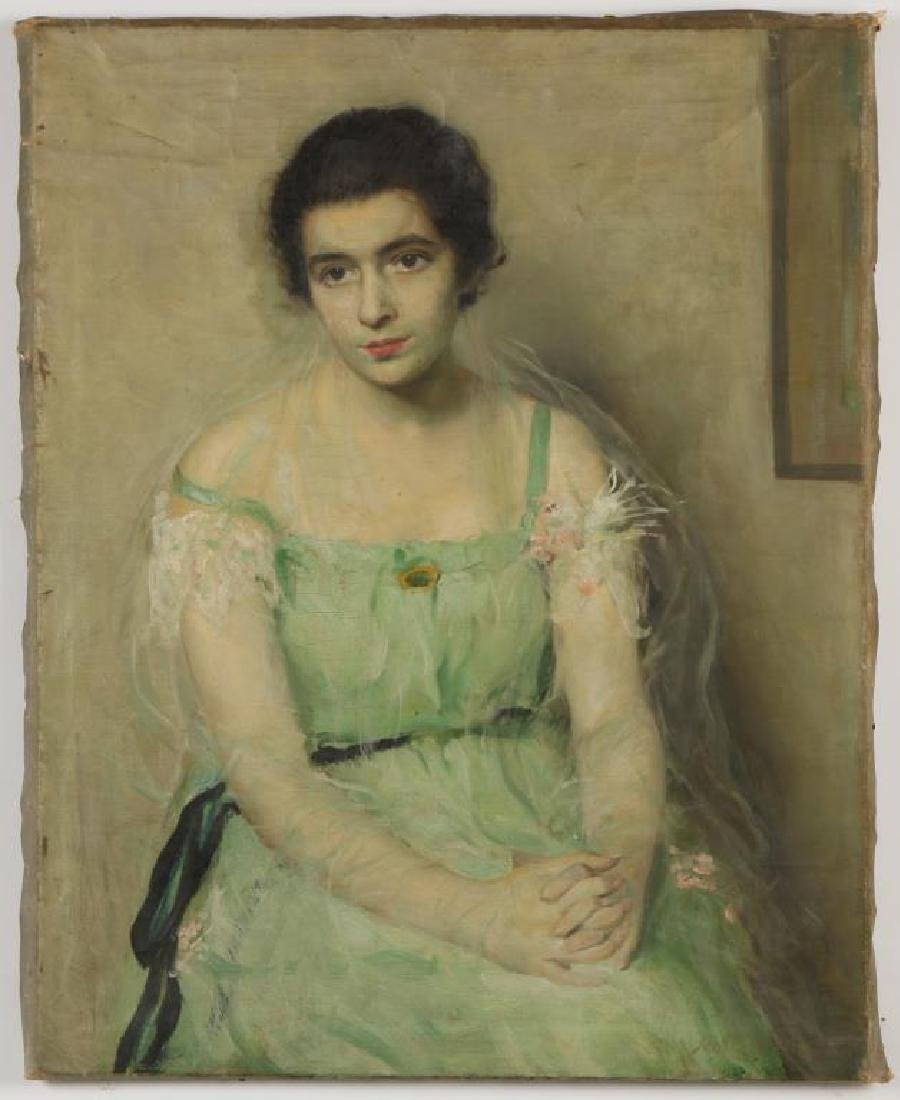 "SCOTT C. CARBEE (1860-1946) ""Portrait of a Young Woman"""