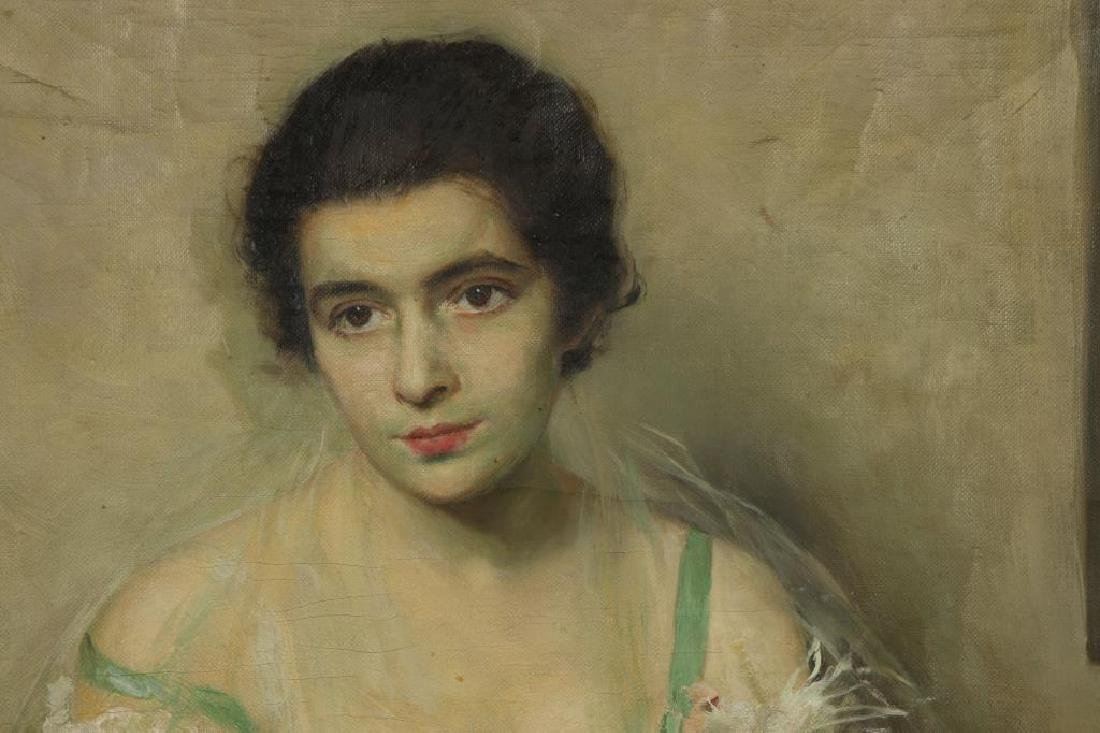 "SCOTT C. CARBEE (1860-1946) ""Portrait of a Young Woman"" - 3"
