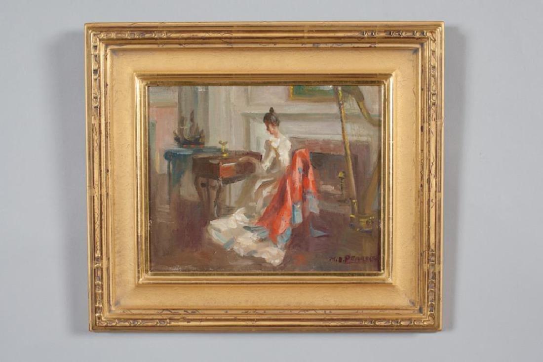 """MARGUERITE STUBER PEARSON (1898-1978) """"Old Brocade"""" oil"""
