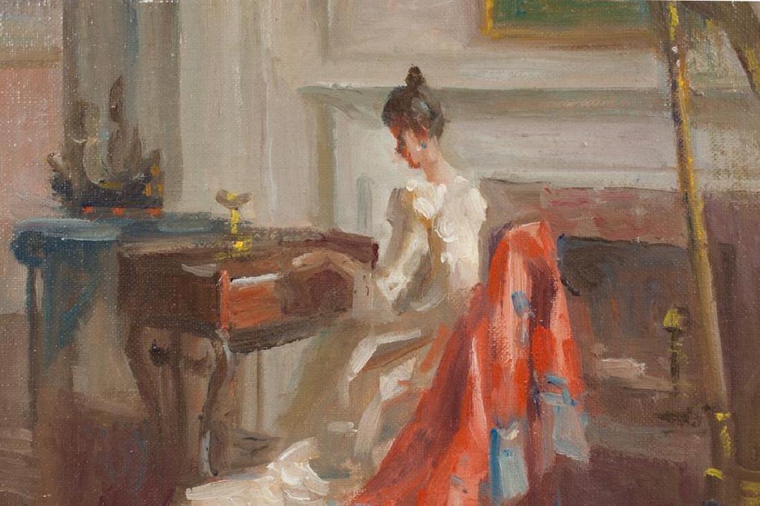 """MARGUERITE STUBER PEARSON (1898-1978) """"Old Brocade"""" oil - 2"""