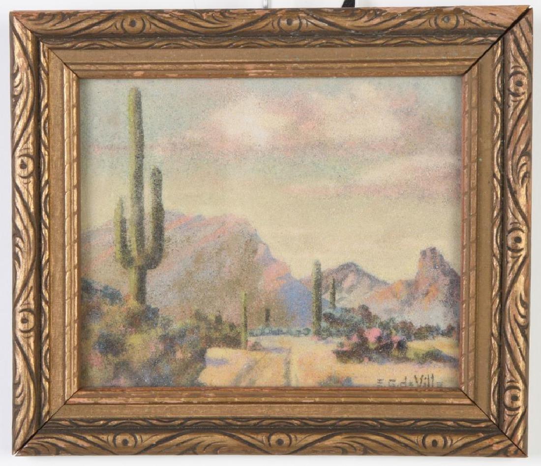 """E. George deVille (1890-1960) """"Arizona Landscape with"""