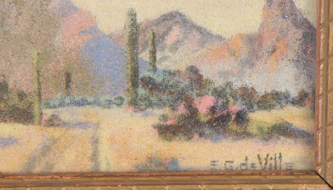 """E. George deVille (1890-1960) """"Arizona Landscape with - 3"""