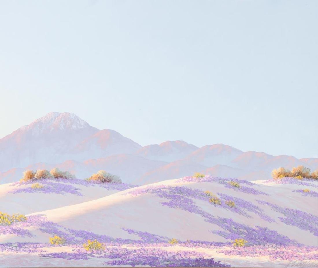 """JOHN W. HILTON (1904-1983) """"Desert Light"""" oil on"""