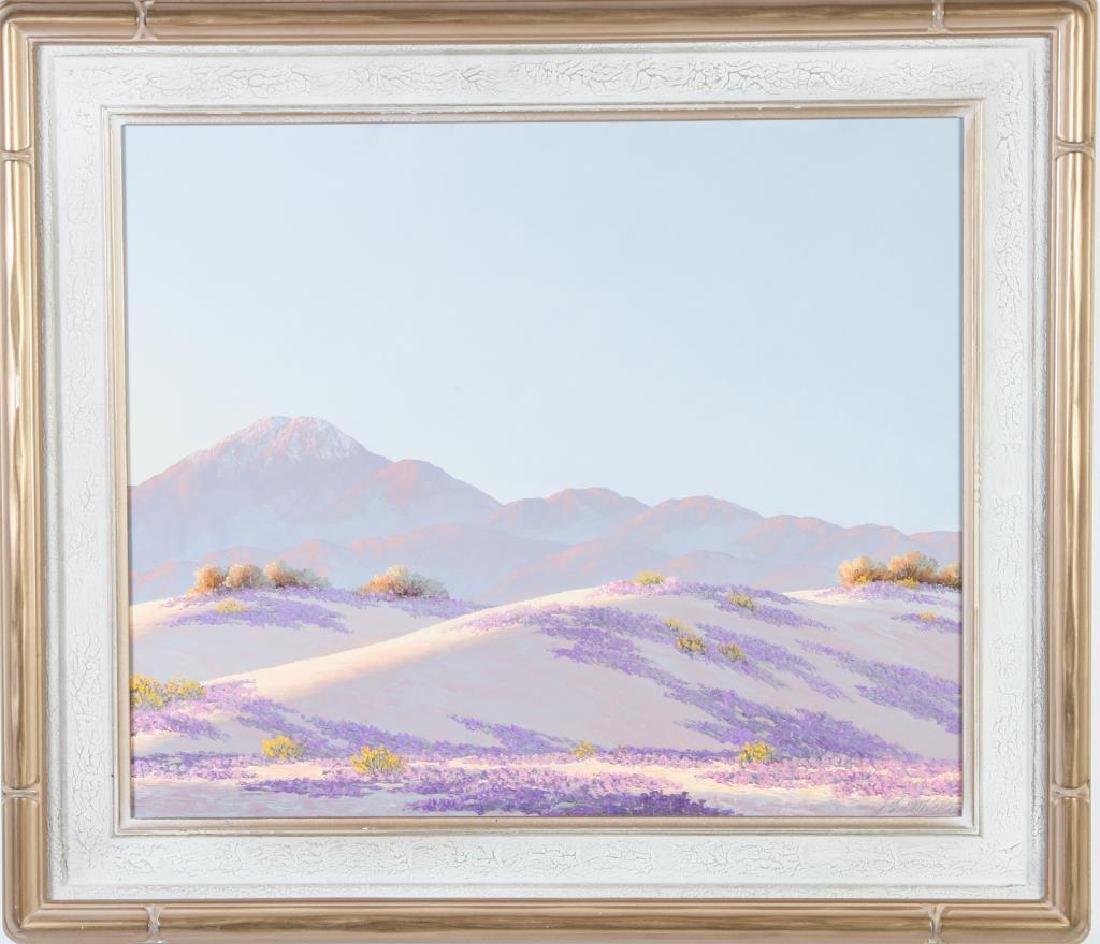 """JOHN W. HILTON (1904-1983) """"Desert Light"""" oil on - 3"""