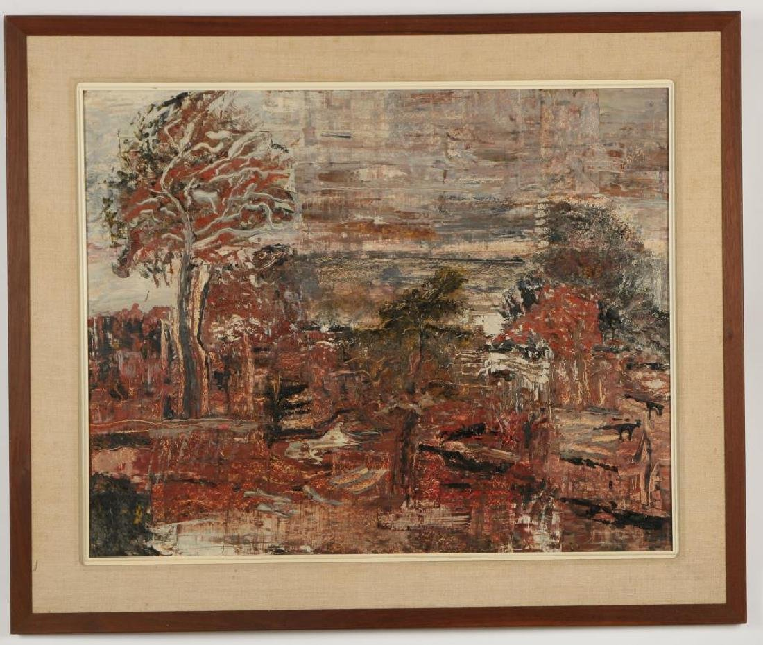 "AMERICAN SCHOOL (20th c) Autumn ""Abstract Landscape"""