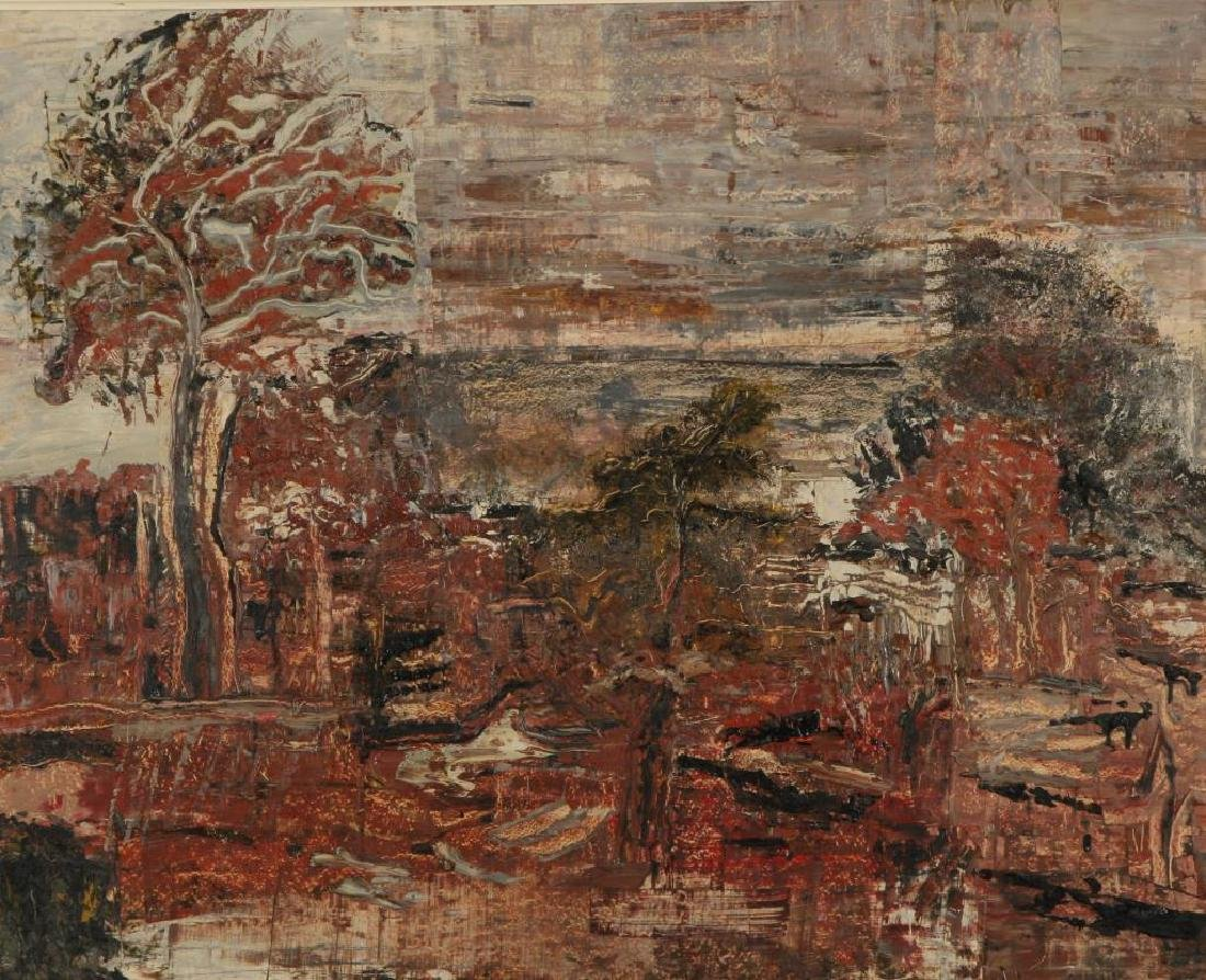 "AMERICAN SCHOOL (20th c) Autumn ""Abstract Landscape"" - 3"