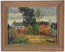 "AMERICAN SCHOOL (20th c) Landscape ""The Gardener's"