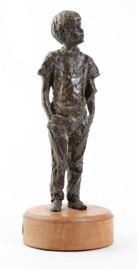 "AMERICAN SCHOOL (20th c) Sculpture ""Boy with Book"""
