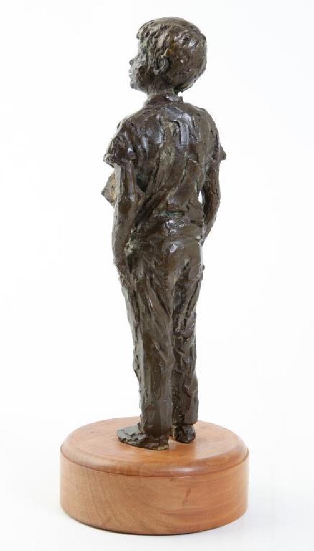 "AMERICAN SCHOOL (20th c) Sculpture ""Boy with Book"" - 5"