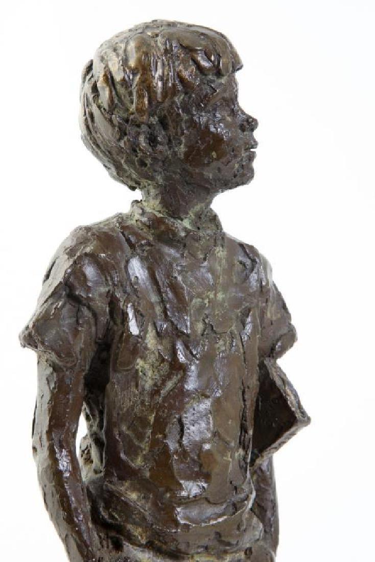 "AMERICAN SCHOOL (20th c) Sculpture ""Boy with Book"" - 6"
