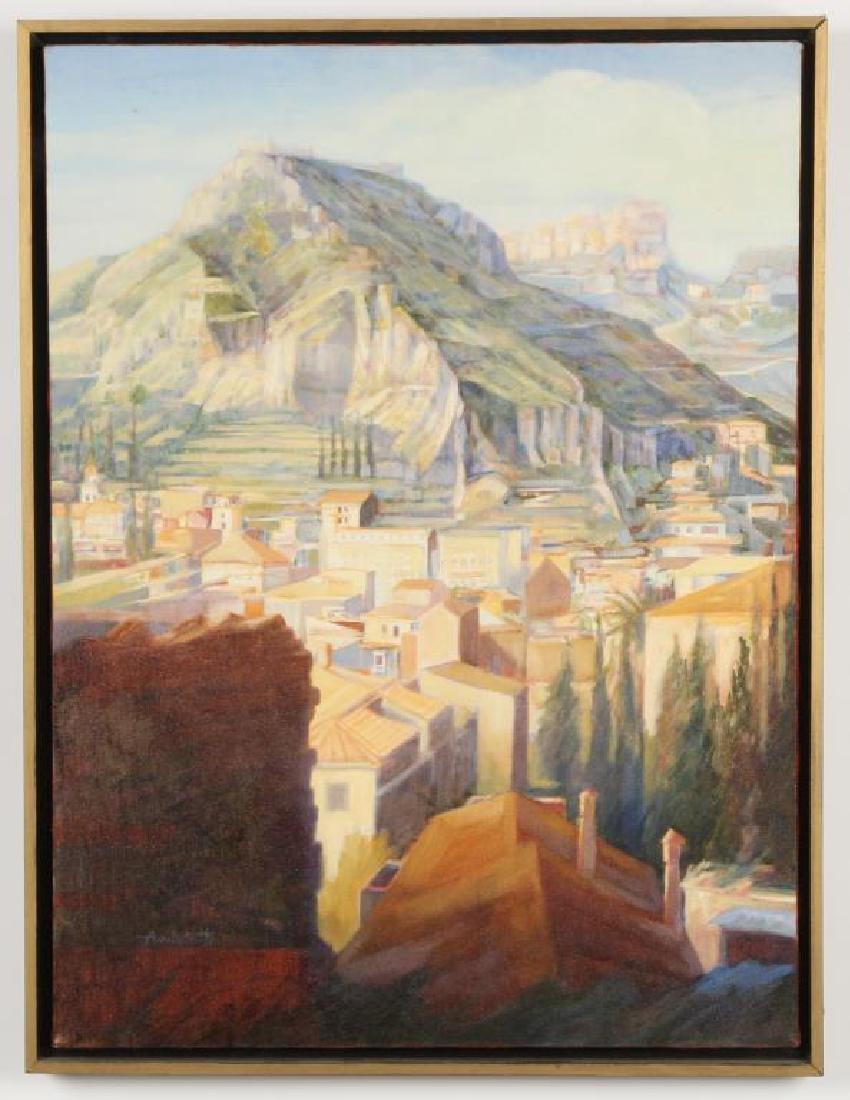 "EUROPEAN SCHOOL (20th c) ELABORATE LANDSCAPE ""Grecian"