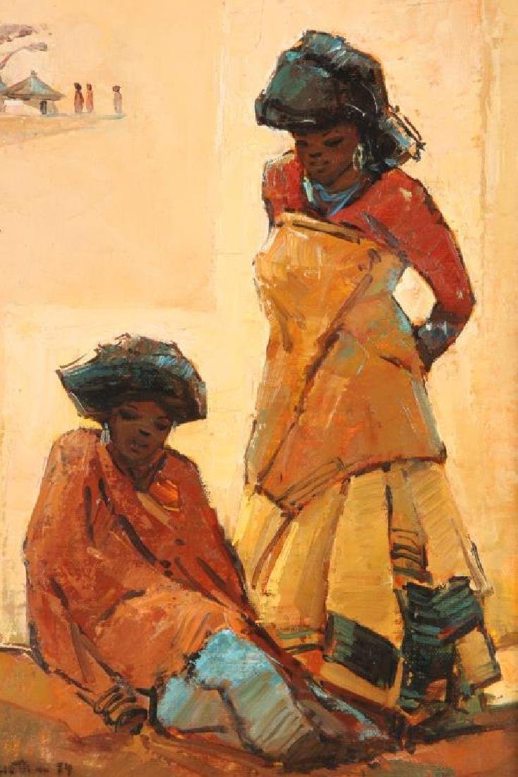"TITTA FASCIOTTI (1927-1993) ""Xhosa Women"" oil on - 3"