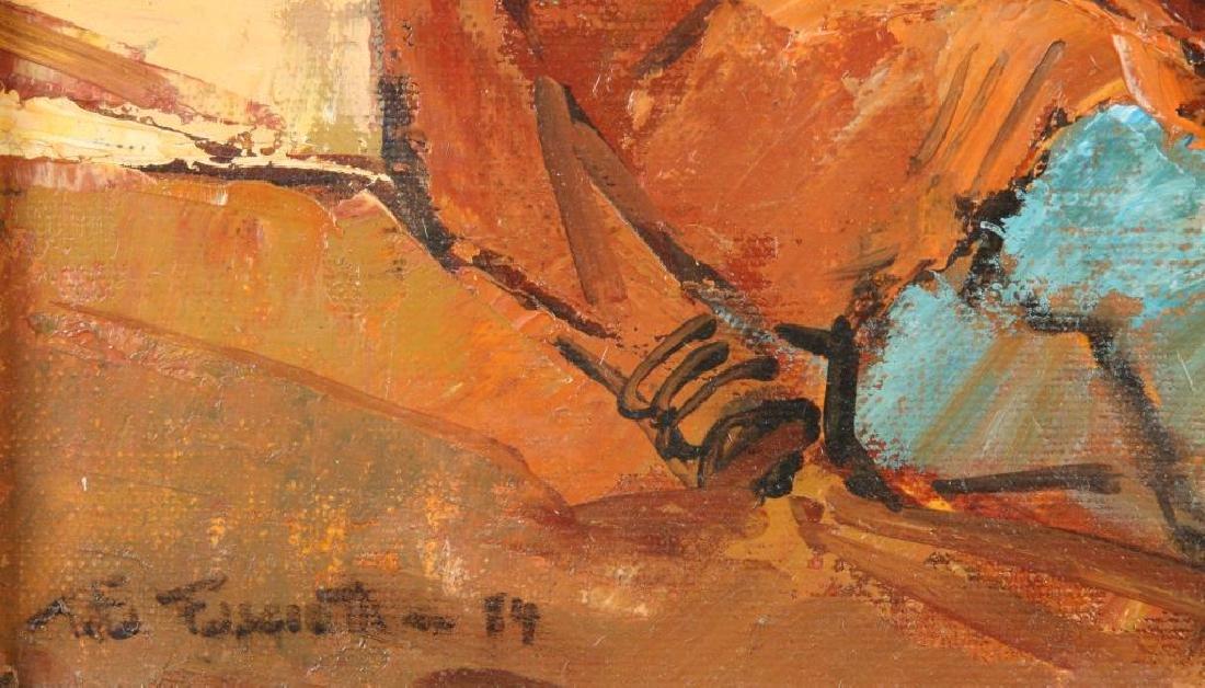 "TITTA FASCIOTTI (1927-1993) ""Xhosa Women"" oil on - 4"