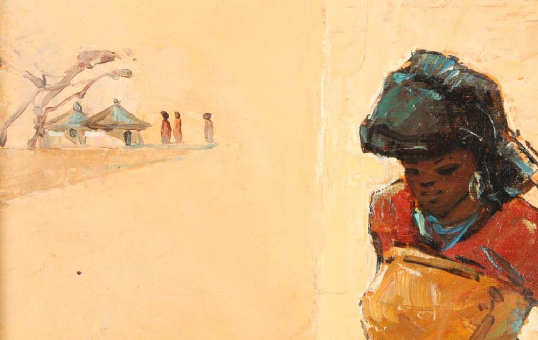 "TITTA FASCIOTTI (1927-1993) ""Xhosa Women"" oil on - 5"