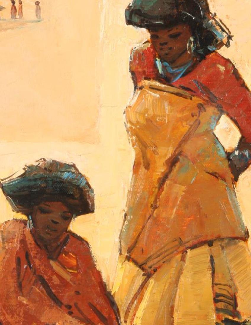"TITTA FASCIOTTI (1927-1993) ""Xhosa Women"" oil on - 6"