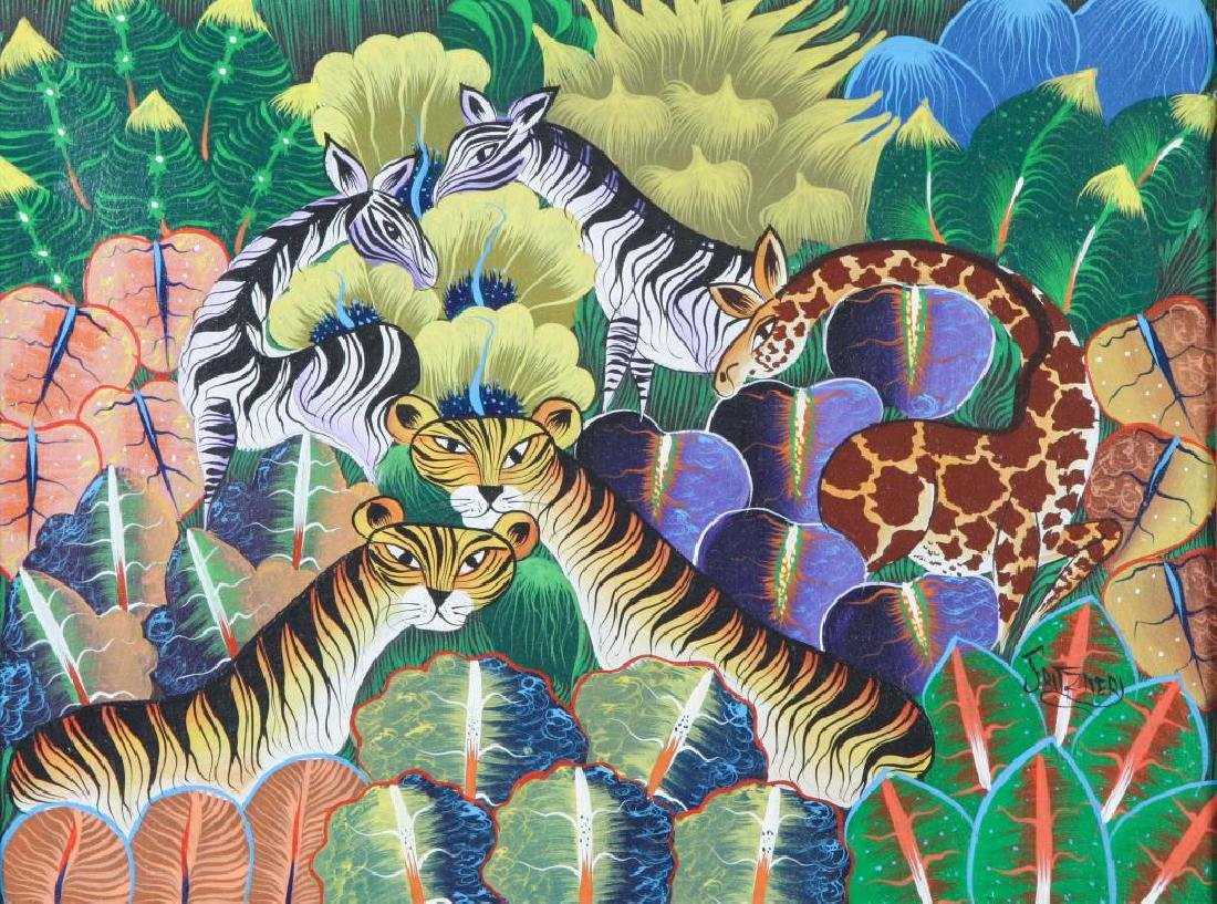 "HAITIAN / BRAZILIAN SCHOOL (20th c) ""Exotic Animals in"