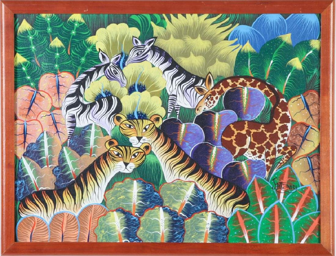 "HAITIAN / BRAZILIAN SCHOOL (20th c) ""Exotic Animals in - 4"