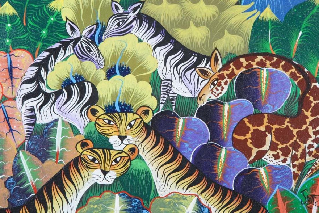 "HAITIAN / BRAZILIAN SCHOOL (20th c) ""Exotic Animals in - 5"