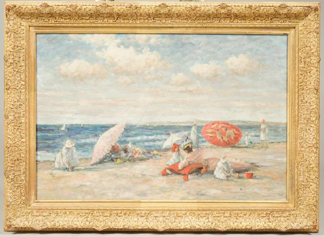 """(20th c) AFTER (19th c) FRENCH SCHOOL """"At the Beach"""""""
