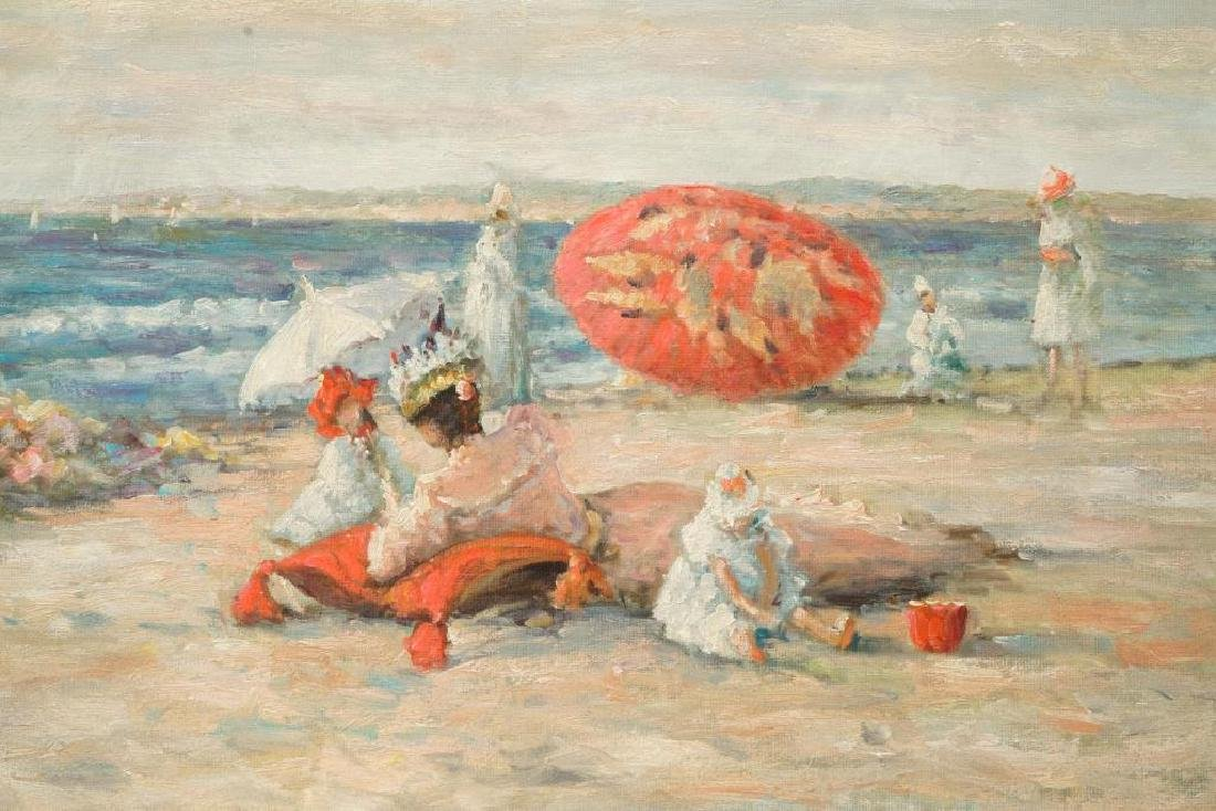 """(20th c) AFTER (19th c) FRENCH SCHOOL """"At the Beach"""" - 3"""