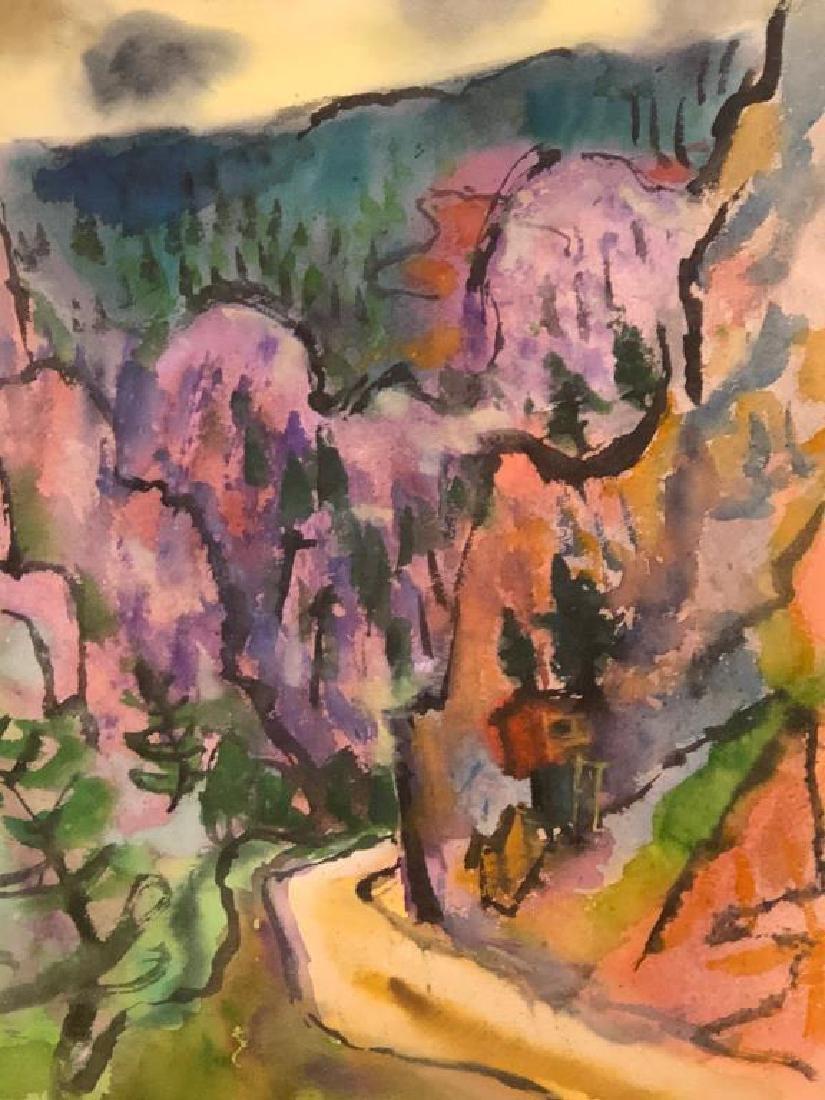 "TIBOR GERGELY (1900-1978) ""Landscape"" watercolor 22 x - 2"
