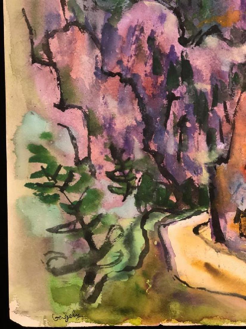 "TIBOR GERGELY (1900-1978) ""Landscape"" watercolor 22 x - 3"