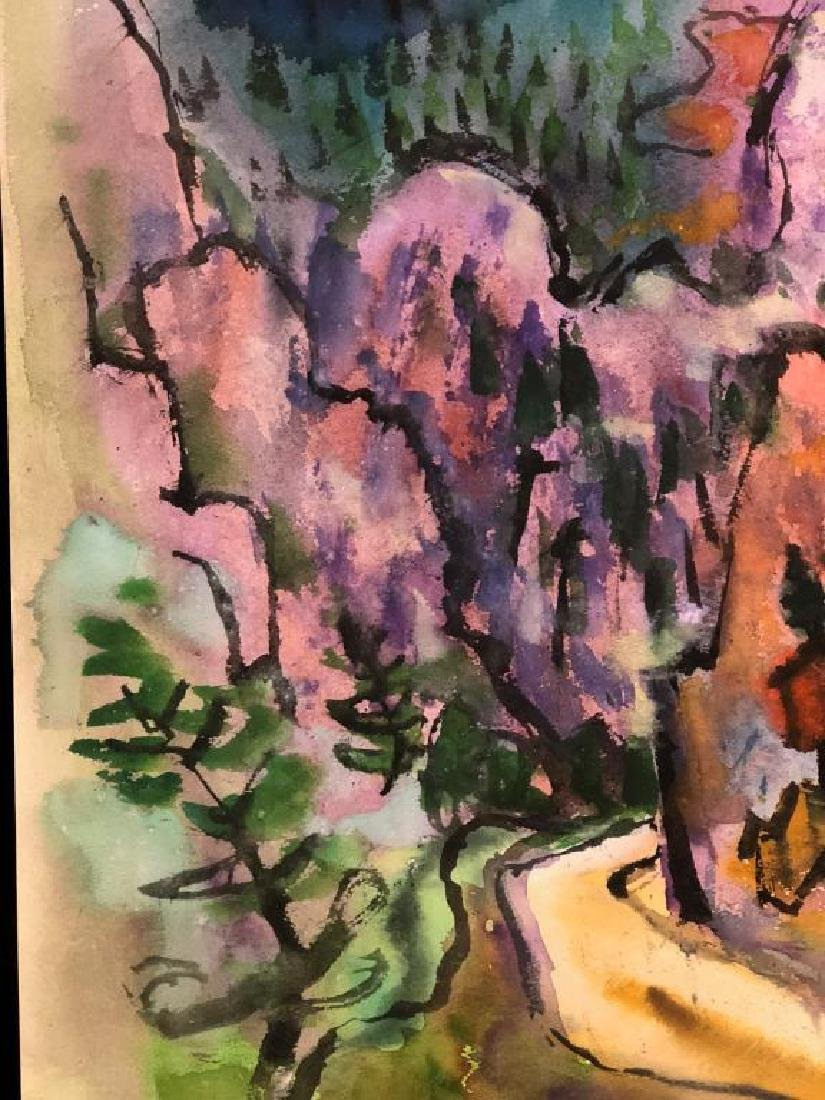 "TIBOR GERGELY (1900-1978) ""Landscape"" watercolor 22 x - 4"