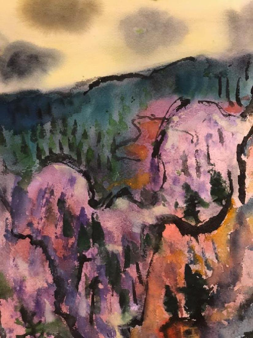 "TIBOR GERGELY (1900-1978) ""Landscape"" watercolor 22 x - 5"